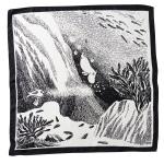 Lasessor Sukellus silk scarf b/w