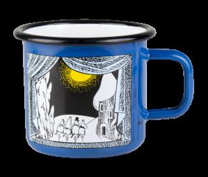 Muurla enamel mug 3,7dl, Winter in Moomin valley