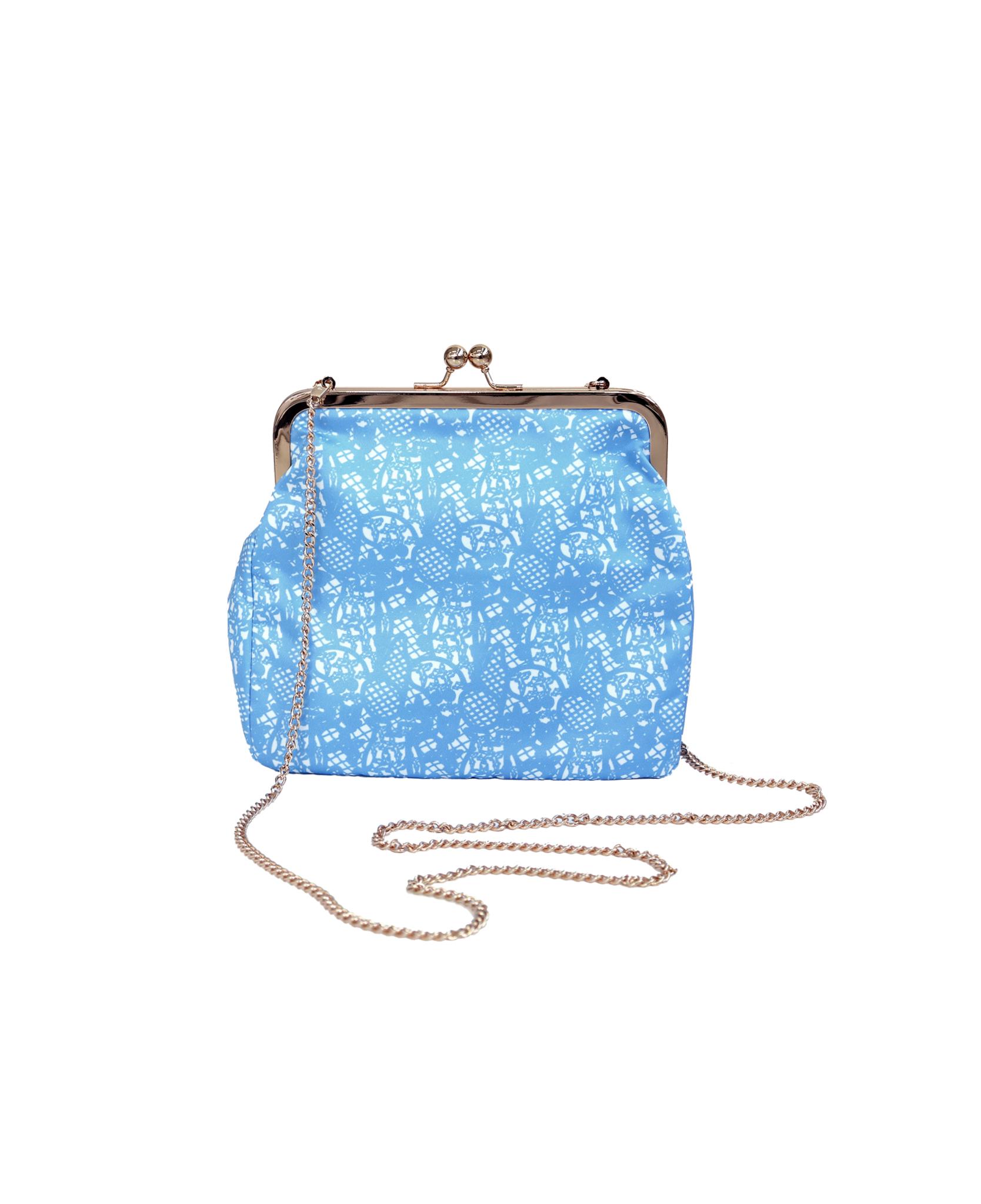 Ivana Helsinki Moomin Printed Lace Purse L blue