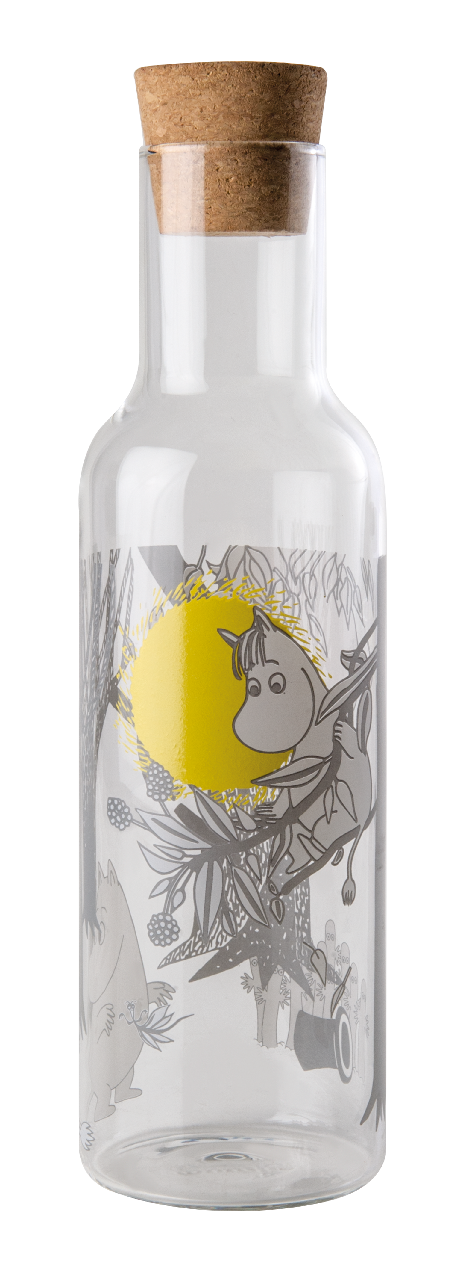 Muurla Bottle with cork lid 1L, Moomin Forest