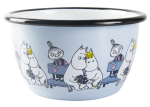 Muurla enamel bowl 6dl Friends blue