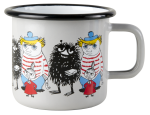 Muurla enamel mug 3,7dl Friends grey