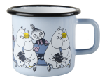 Muurla enamel mug 3,7dl Friends blue