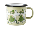Muurla enamel mug 3,7dl Friends green