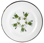 Muurla enamel plate 24cm Friends green
