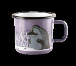 Muurla enamel mug 2,5dl Groke purple