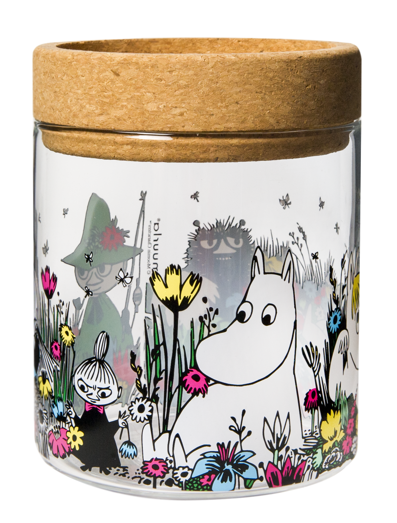 Muurla lantern/jar with cork stand/lid, Moomin Shared Moment