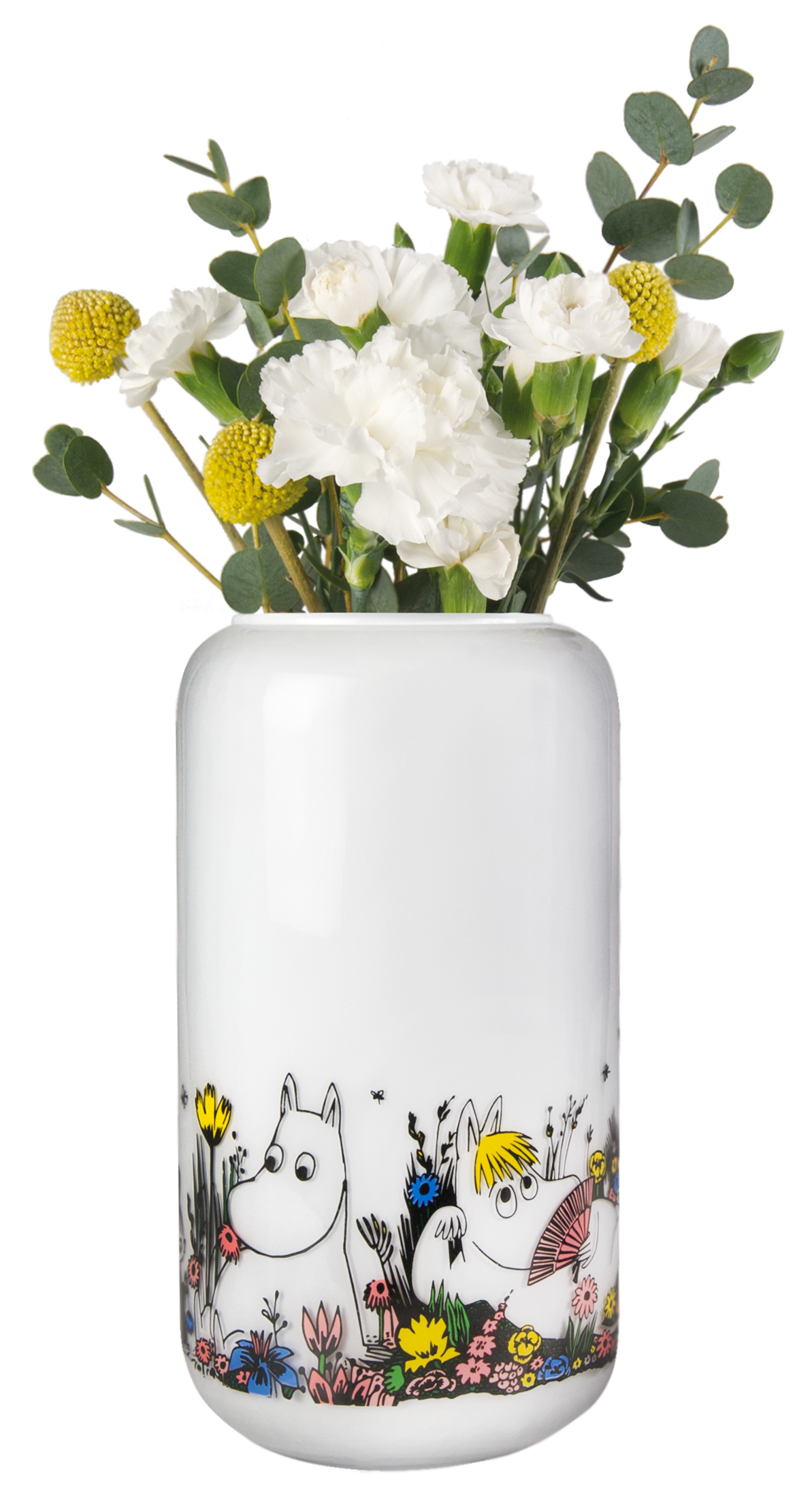 Muurla Shared Moment glass vase, white