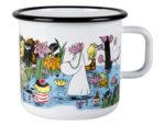 Muurla Trip to the pond enamel mug 8 dl