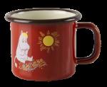 Muurla enamel mug 1,5dl Vintage Snorkmaiden