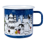Muurla enamel mug 8dl Winter Forest