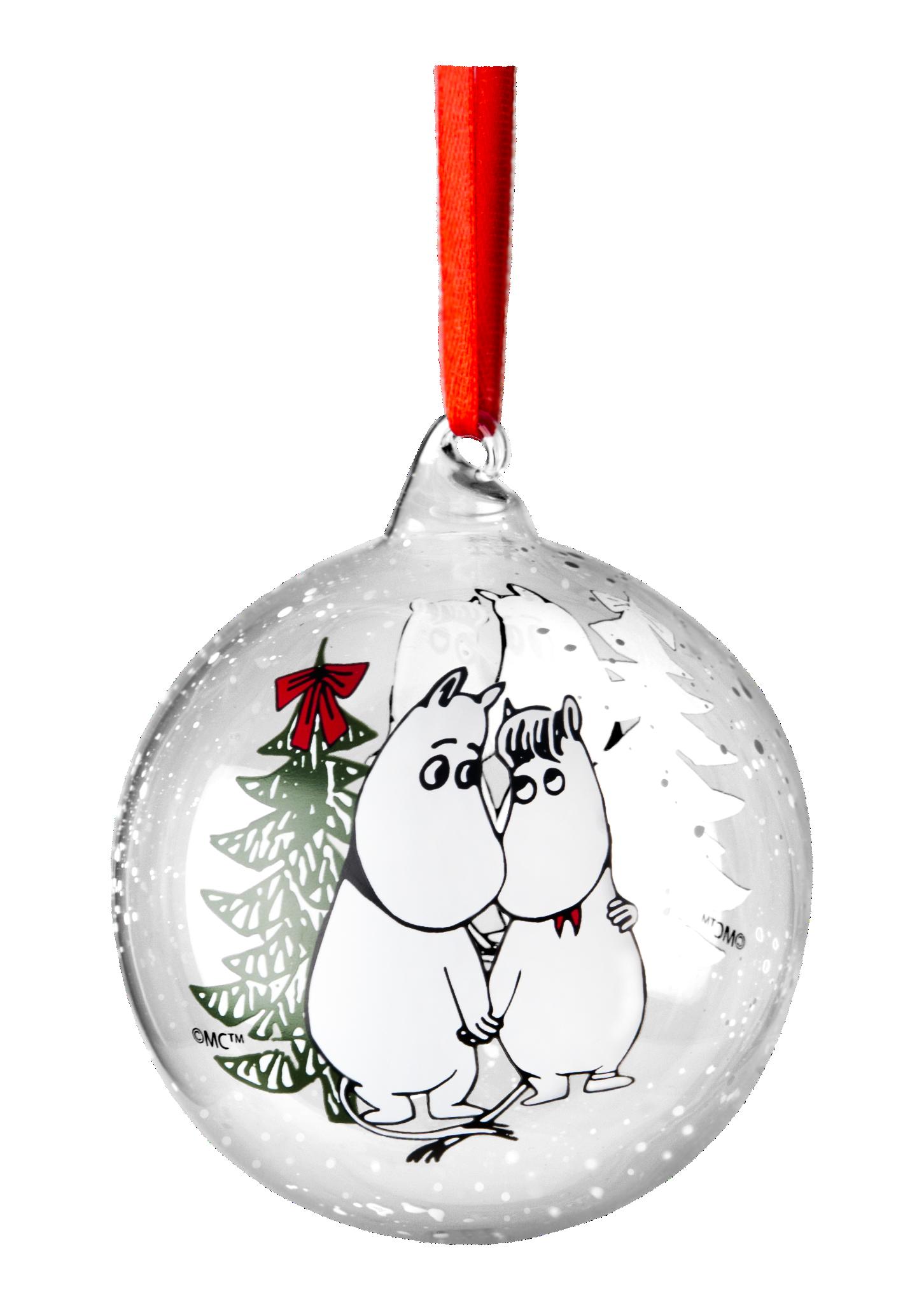Muurla Moomin Winter Magic decoration ball 9cm