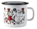 Muurla Moomin Winter Magic enamel mug 2,5dl