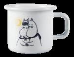 Muurla Moomin Winter Romance enamel mug 3,7dl