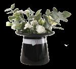 Muurla Moominpappa's hat vase, black