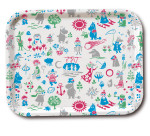 OPTO Tray Moomin Pattern Design