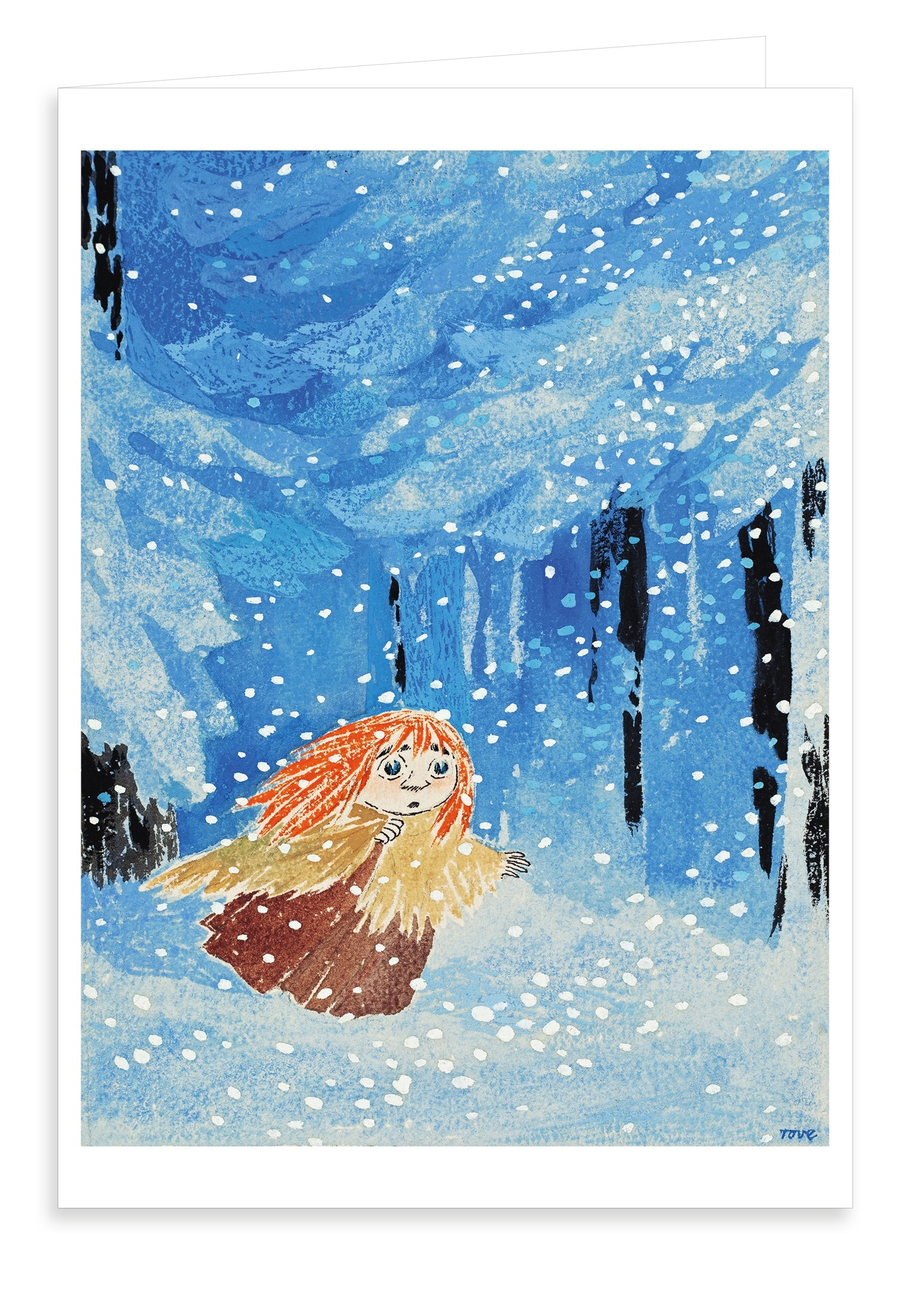 Putinki Greeting Card Moominland Midwinter Miffle