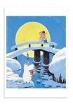 Putinki Greeting Card Moominland Midwinter Bridge