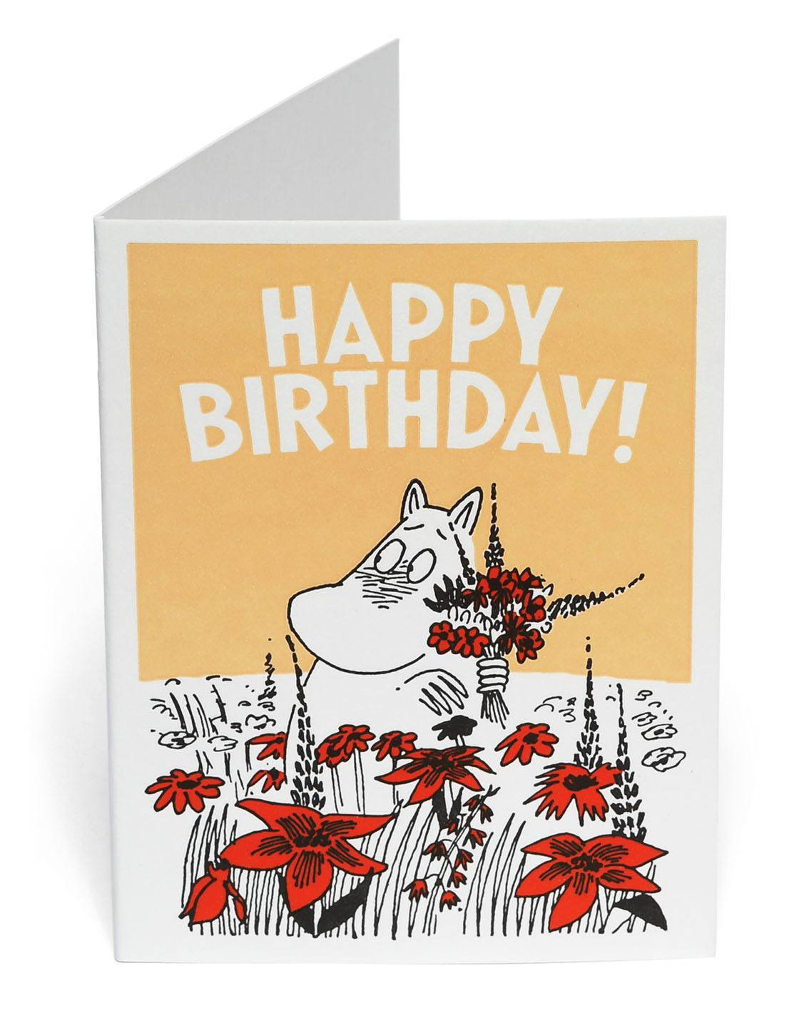 Putinki Letterpress Greeting Card Happy Birthday