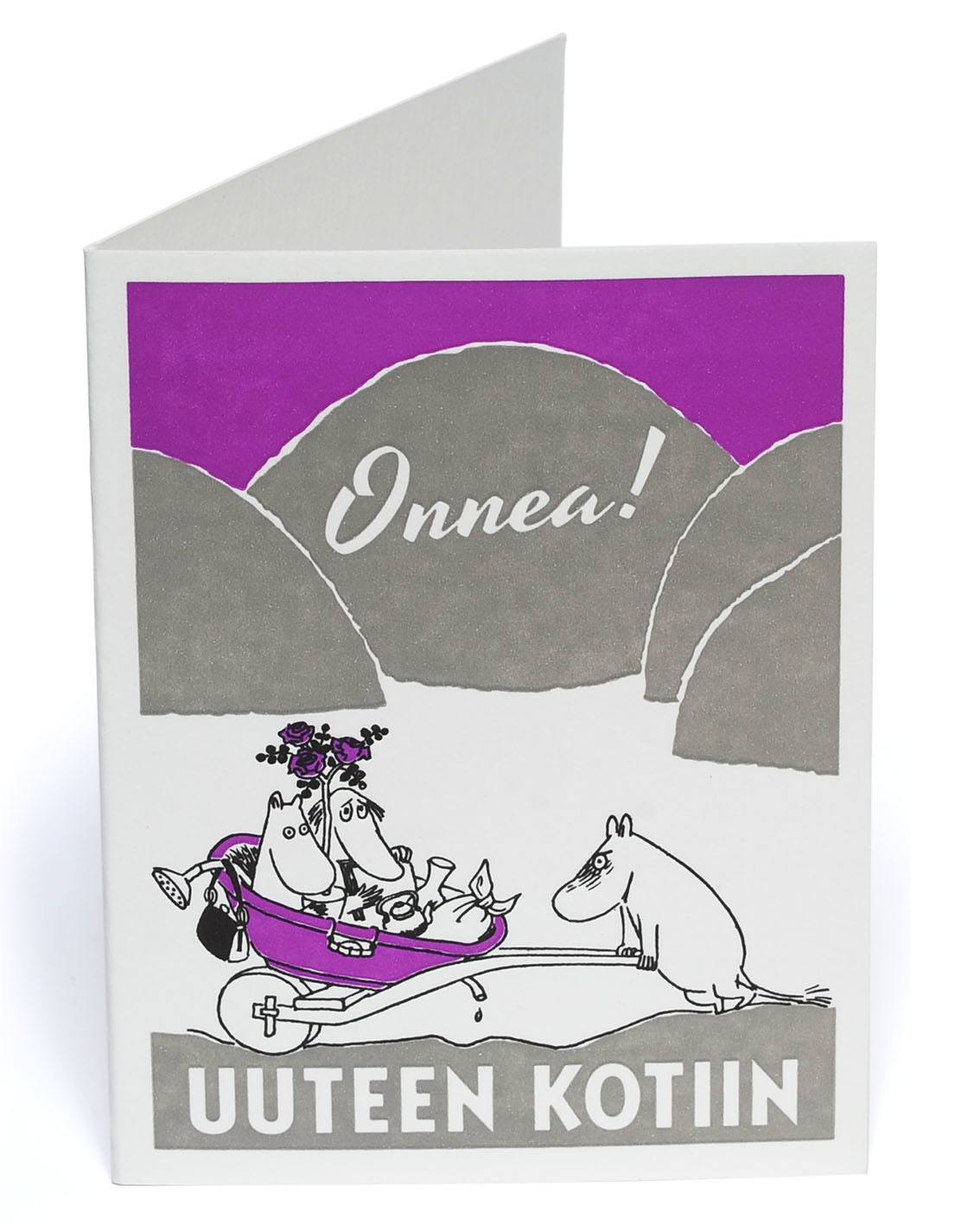 Putinki Letterpress Greeting Card New Home Moomin Products