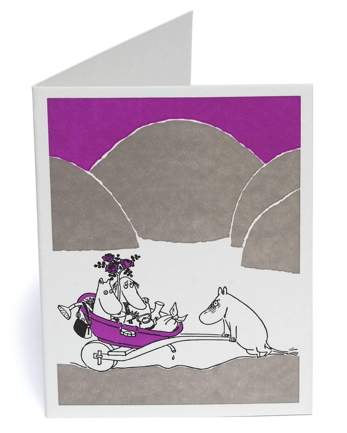 Putinki Letterpress Greeting Card Wheelbarrow