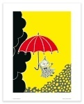 Putinki Poster Little My with Umbrella