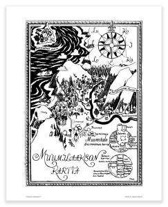 Putinki Poster Map of Moominvalley