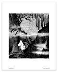Putinki Poster Moomin, Snufkin And Sniff in A Dark Forest