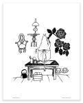 Putinki Poster Moominmamma Paints