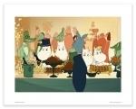 Putinki Poster Moomins on The Riviera Buffet