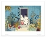 Putinki Poster Moomins on The Riviera Garden