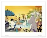 Putinki Poster Moomins on The Riviera Pool