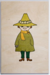 Come to Finland Snufkin wooden postcard