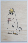 Come to Finland Snorkmaiden wooden postcard