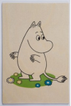 Come to Finland Moomintoll summer wooden postcard