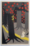 Come to Finland Moomintroll in the woods wooden postcard