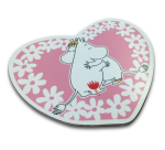 OPTO Pot Coaster Shaped -Heart Together Pink