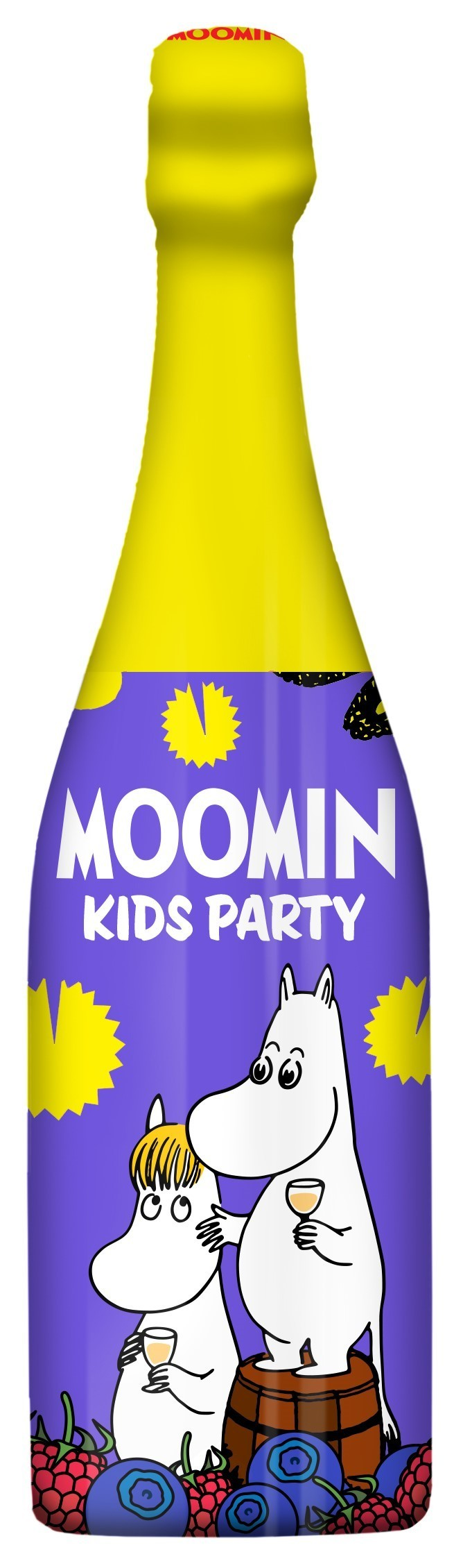 LASSO DRINKS Moomin Kids Party Drink Bilberry-Raspberry 75 cl