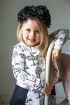 Martinex Moomin WILLYJONK DRESS BLACK AND WHITE