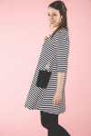 Moomin stripe dress black
