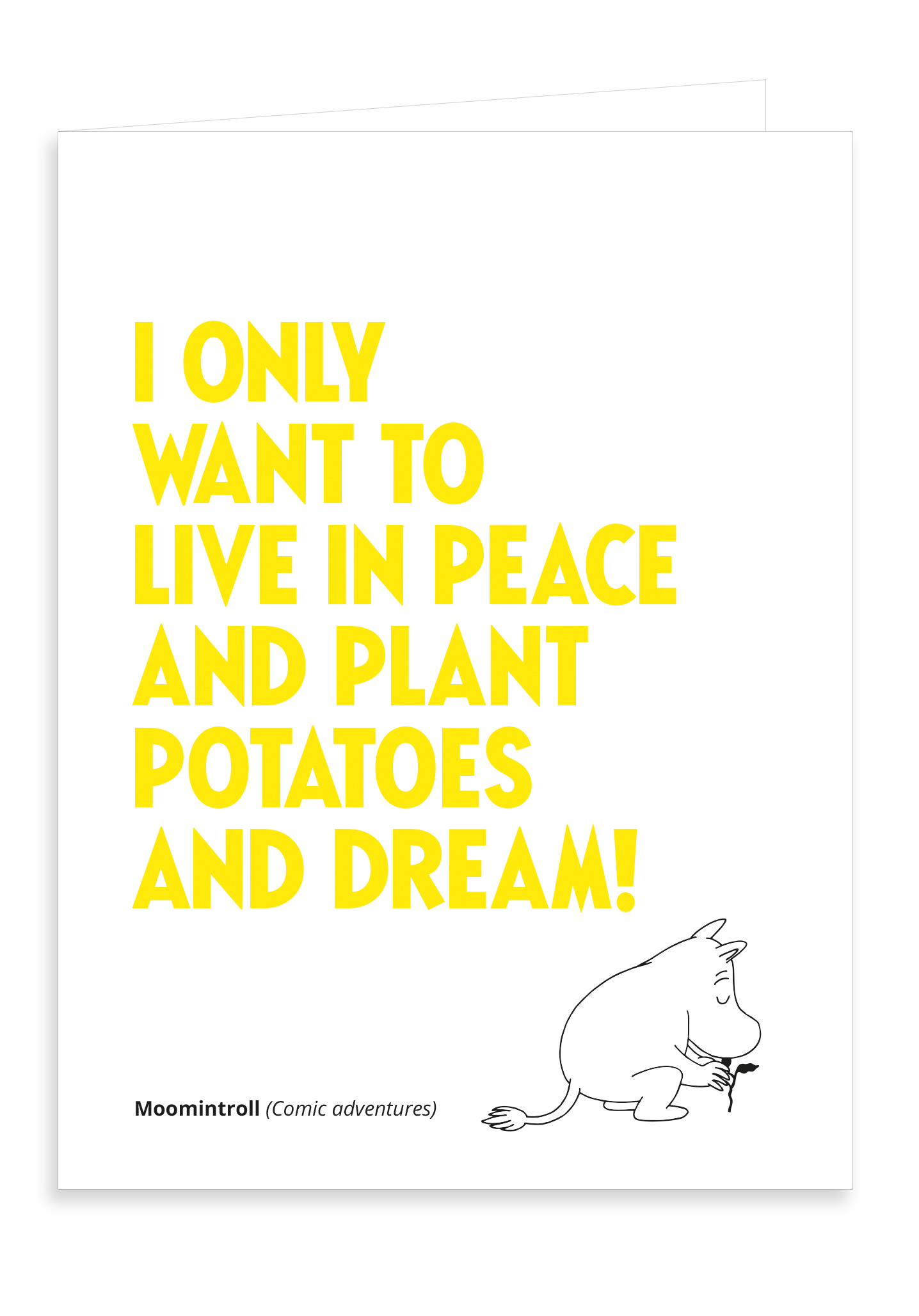Putinki Letterpress Greeting Card Planting Potatoes