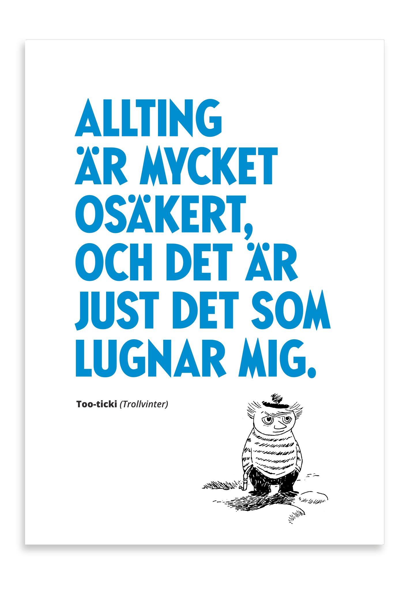 Putinki Letterpress Postcard Mycket Osäkert