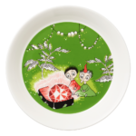 by Arabia Moomin plate 19cm Thingumy and Bob green