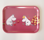 OPTO Tray 27x20 Moomin, Snorkmaiden & Little My, pink