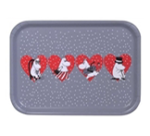 OPTO Tray 27x20 Grey X-mas Heart