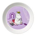 by Arabia Moomin plate 19 cm Snorkmaiden lila