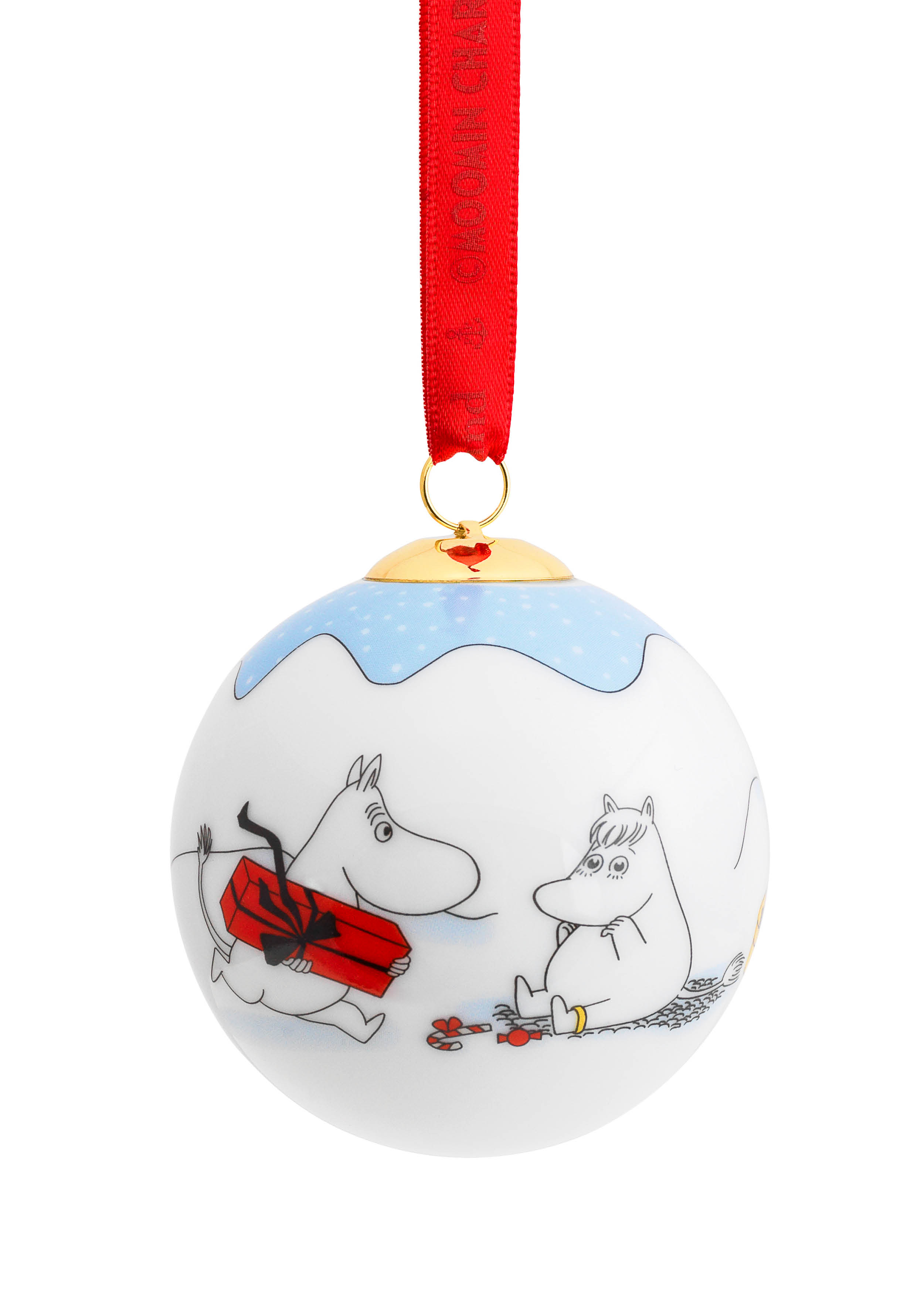 Porsgrund Christmas in the Moomin Valley Christmas Ball