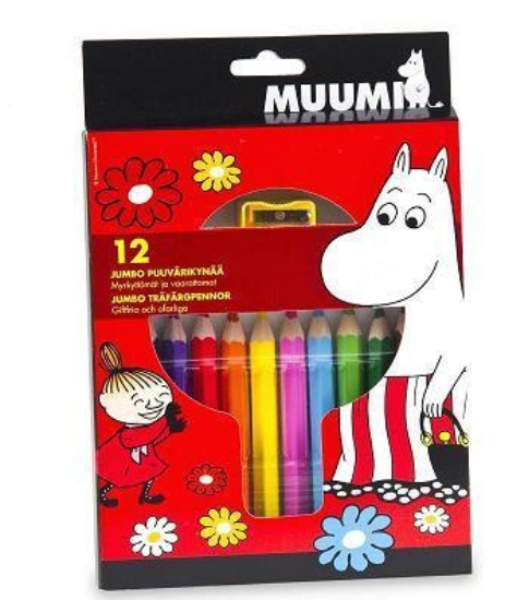 Anglo-Nordic Moomin jumbo colouring pencils 12 pcs