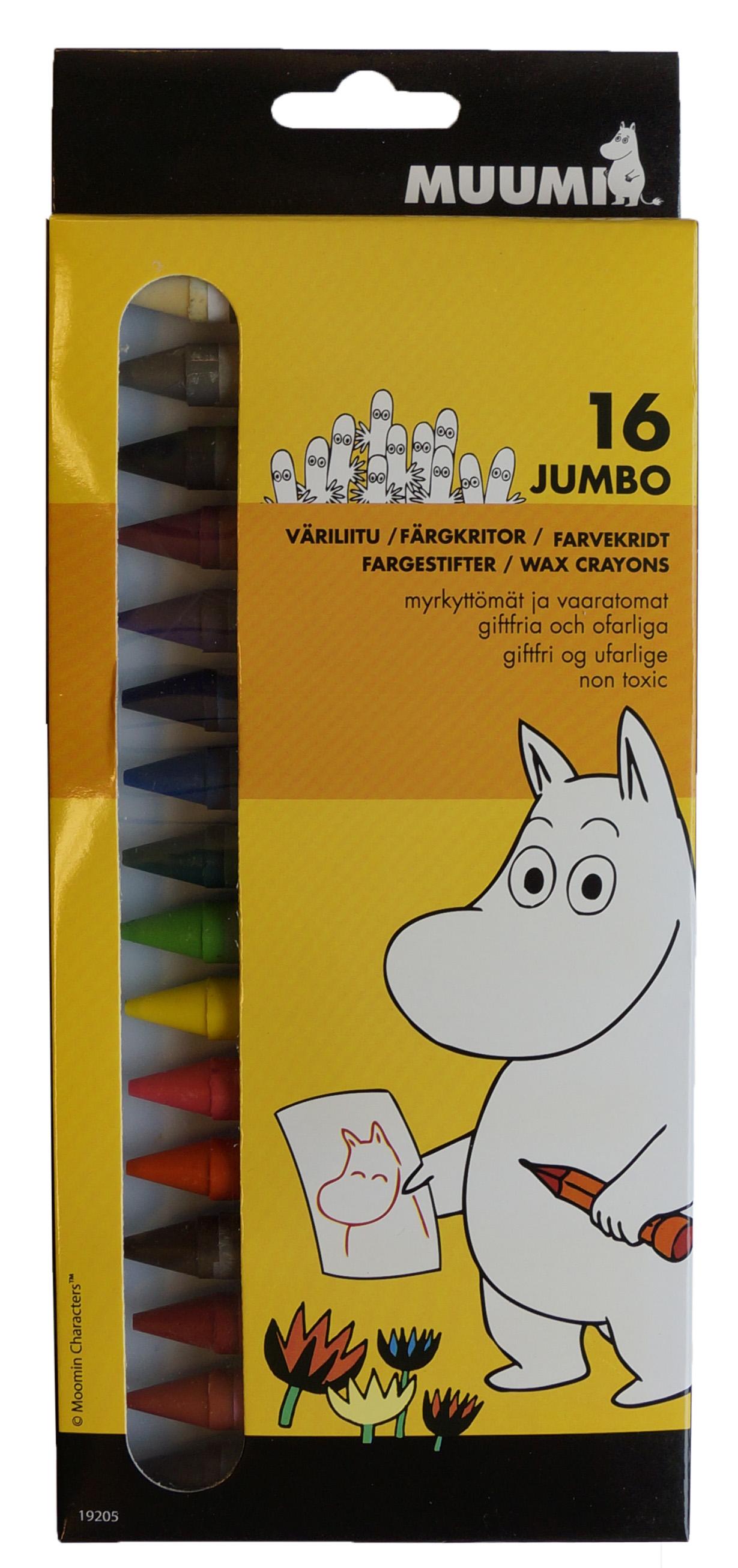 Anglo-Nordic Moomin jumbo crayons 16 pcs