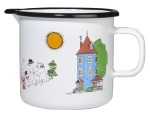Muurla enamel jug 0,8l Colors Moominvalley
